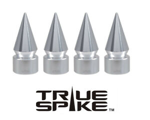 4 TRUE SPIKE SILVER SPIKED TPMS WHEEL AIR VALVE STEM COVER CAP FOR HYUNDAI