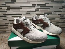 Puma Trinomic Disc Blaze Felt Trainers Slip On Leather Grey 358820 01 kith fieg