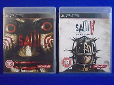 ps3 SAW 1 + SAW 2 Flesh & Blood Survival Horror Games I + II PAL UK REGION FREE