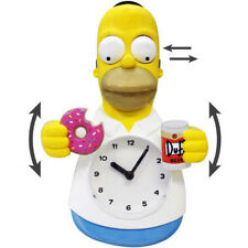 Homer Simpson 3D Motion Wall Clock The Simpsons Moveable Doughnut Duff Beer