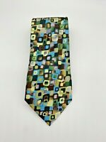 J. Garcia New York, New York Collection Sixty 100% Silk Tie Multi Color Abstract