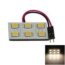 1x Warm White RV Panel Dome Blub Footwell Lamp 6 5050 SMD LED T10 festoon J001