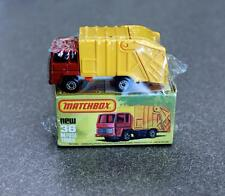 Vintage Matchbox 36 Refuse Truck Shrink-Wrapped NOS