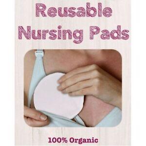 Nursing Pad Natural Organic Cotton Pack of 10 Mum Breast Feeding Eco-Friendly