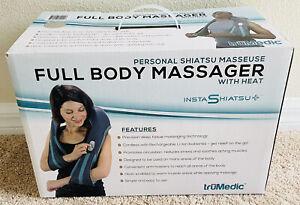TruMedic InstaShiatsu+ Neck Back & Shoulder Full Body Massager W/Heat Cordless