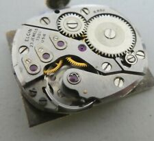 Vintage Elgin 750 23 Jewels watch movement & dial for parts (x96)