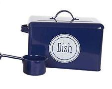 Enamel Retro Dishwasher Tin NAVY Dish Washer Tablet Wash Powder FREEPOST NEW