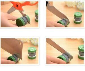 Mini Puck Sharpener Round Knife Sword Axe Blade Sharpening Stone Dual Grit