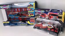 Hasbro Micro Machines FIRE & RESCUE Vehicles And EXPANDING Fire Rescue PLAYSET!