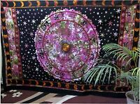 Hippie Zodiac Astrology Horoscope Twin Indian Wall Hanging Tapestry Bedspread