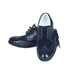 Chaussures bleues en daim pour garçon de 2 à 16 ans