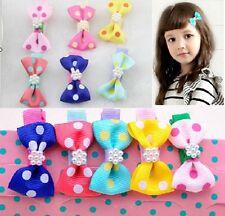 10 pièces / LOT POIS NOEUD PINCE CHEVEUX Style coréen filles pour bébé&enfants