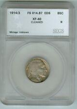 "Rare ""EDS"" 1914/3 FS# 014.87 Buffalo Nickel"
