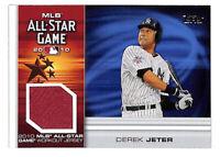 2010 Topps Update Derek Jeter All Star Game jersey patch relic card Yankees HOF