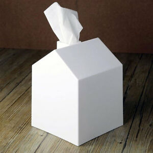 Umbra Brand CASA Tissue Box Cover, White, Bath Home Decor Roll Holder Organizer