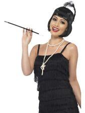 Flapper Kit Wig Necklace Headpiece Cigarette Holder Ladies 20's Fancy Dress