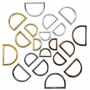 Molded solid cast long D rings buckles for webbing different sizes and colours