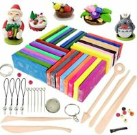 Polymer Clay 32 Colours Oven Bake DIY Modelling Clay Kit with 5 Modeling Tools