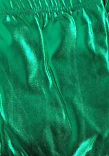 qShiny Metallic Legging Neon Strech Pants Dance Costume Party Costume  Dress Up