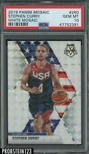 2019-20 Panini Mosaic White Prizm Stephen Curry USA Basketball 4/25 PSA 10