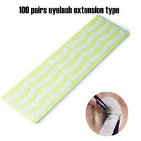 100Pair Grafting Eyelash Stickers Under Eye Pad Makeup Lsolate Tools 7.5*18cm