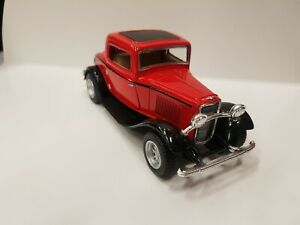 1932 Ford 3 window coupe red kinsmart TOY car model 1/34 scale diecast metal