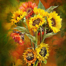 "Canvas Print Oil Painting Picture Impression Sunflower on canvas 16""x16"" L720"