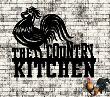 The Country Kitchen Rooster - Rooster Art - Kitchen Art - Metal Wall Art Steel