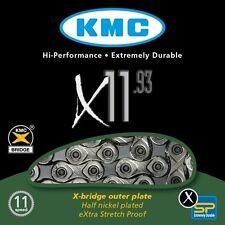 CATENA KMC X11.93 11V ARGENTO MTB STRADA 11S ROAD SILVER CHAIN