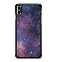 Purple Starry Space Luminous Milky Way Cosmological Galaxy 2D Phone Case Cover