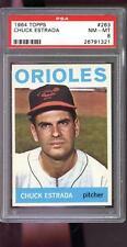 1964 Topps #263 Chuck Estrada Baltimore Orioles NM-MT PSA 8 Graded Baseball Card