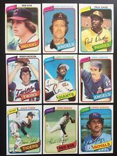1980 TOPPS Baseball Cards.   Card # 251-500.   You Pick to Complete Your Set