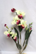 Artificial Ruby Red Orchid Plan|Artificial Flower Artificial Leaves Dried Flower