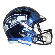 Russell Wilson Seattle Seahawks Signed Full Size Replica Chrome Helmet MillCreek