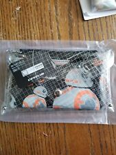 Star Wars 7 BB-8 Force Awakens Movie Clear Envelope Wallet With Wristlet Nwt
