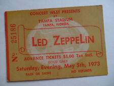 Led Zeppelin_Original_1973_Co ncert Ticket Stub_Largest Audience Record !