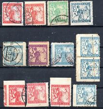 SLOVENIA / CHAINBREAKERS - LOT OF PARTLY IMPERFORATED STAMPS - USED