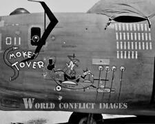USAAF WW2 B-24 Bomber Smokey Stover 8x10 Nose Art Photo 11th BG 7th AF WWII