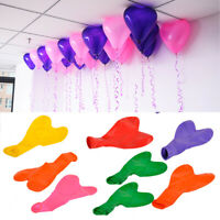 100pcs Love Heart Shape Latex Balloons Wedding Birthday Party Decor Celebrate