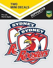 620011 SYDNEY ROOSTERS NRL SET OF 2 MINI DECALS CAR STICKERS ITAG