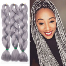 "24""Ombre Color Jumbo Braiding Hair Extension Two Tone Color Synthetic Box Braids"