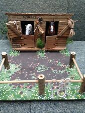 BESPOKE! 'STABLE & PADDOCK' WOODEN, FARM BUILDING FOR 'SCHLEICH' FARM ANIMALS