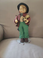 Antique Vintage Goebel M.J Hummel Little Fiddler Soft Body Porcelain Doll
