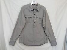 NAU Mens Medium Blue Long Sleeved Shirt Organic Cotton Pullover Henley