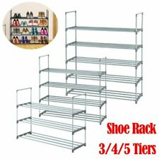 3/4/5 Tier Shoe Rack Shoe Tower Shelf Storage Organizer Bedroom Entryway Cabinet
