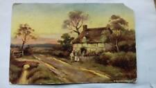 Antique Postcard,Kentish cottage,1907,1900s,Epsom