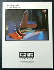 1991 CODE WEST Footwear Ad - Rendezvous In A Best Western