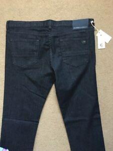 "CERRUTI 1881 Men's 5-Pockets CMM Regular Straight Black Jeans, W38"", L34"", £195"
