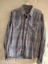 SUPERDRY MENS CHECK LONG SLEEVE SHIRT SIZE LARGE
