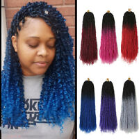 """18"""" Ombre Passion Twist Crochet Braiding Synthetic Nubian Braids Hair Extensions"""